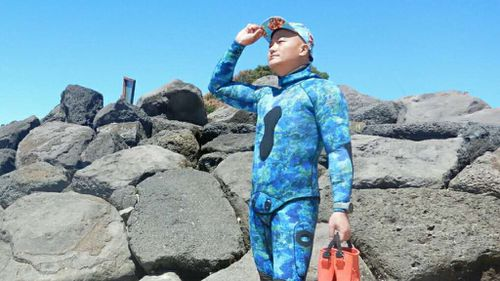 "Marshall Yu, 43, is an interior designer from Shanghai who enjoys diving as a ""hobby"". (supplied)"