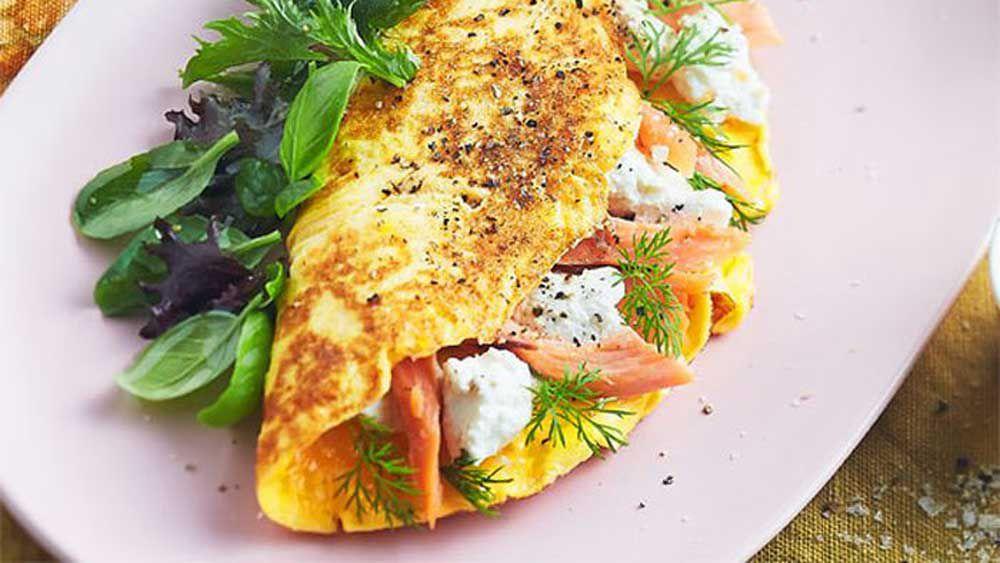 Persian feta omelette