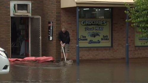 Elwood experienced flooding after the deluge. (9NEWS)