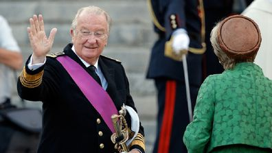 King Albert II Of Belgium, & Inauguration Of King Philippe on July 21, 2013 in Brussels, Belgium.