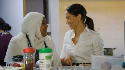 Meghan Markle supports the launch of a new cookbook, September 2018