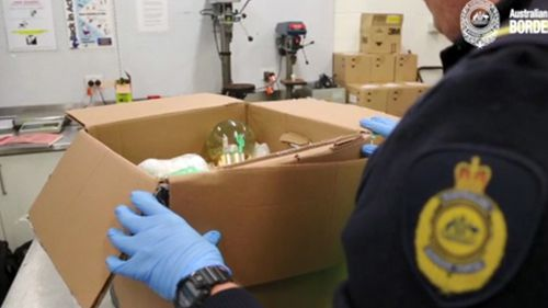 Tests on the liquid showed the snow globes had been filled with methamphetamine.