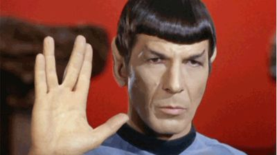 Nimoy played Mr Spock, a half-human and half-Vulcan character, winning three Emmy nominations for his work. (AAP)