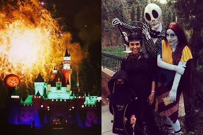 Best mum ever!? <br/><br/>Kourt took her little ones to Disney Land for some pre-Halloween fun.