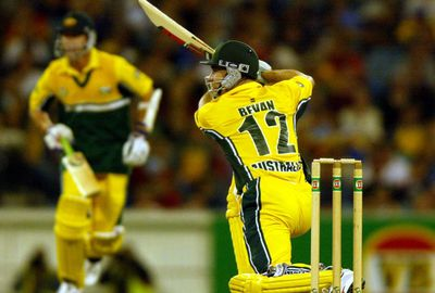 Master run chaser Michael Bevan was the hero, hitting 102 to win the match in the final over.