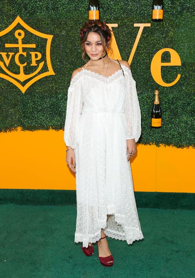 Vanessa Hudgens works Boho chic at the polo.