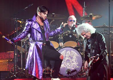 Adam Lambert, Roger Taylor and Brian May