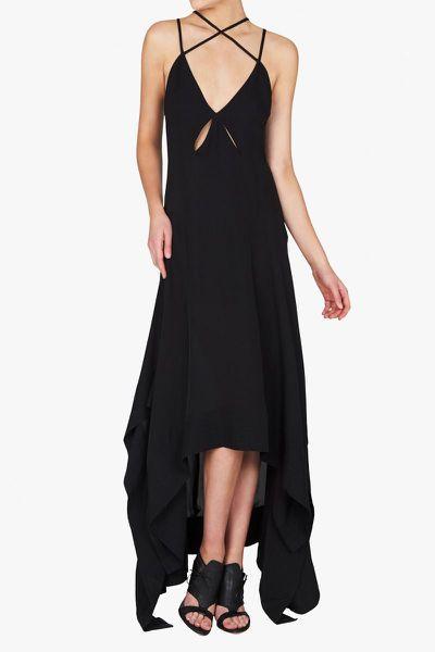 """<a href=""""https://www.sassandbide.com/au/aspire-and-inspire-black"""" target=""""_blank"""">Sass &amp; Bide</a> embellished dress, $795<br>"""