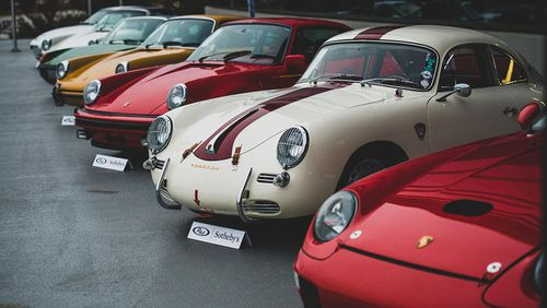 Some of the Porsches which were up for auction.