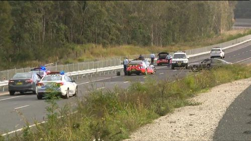 Two women travelling in the car being pursued have been arrested and are assisting police with their investigation. (9NEWS)