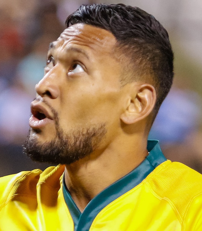 Israel Folau faced a code of conduct hearing at Rugby Australia following the Instagram post.