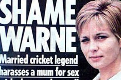 In 2005, while married to Simone, Warnie was sacked as Vice Captain of the Aussie Cricket Team... and all for bombarding Brit nurse Donna Wright with dirty phone calls. <br/><br/>After meeting the sports star in a Leicester club, he begged the mum-of-one to head back to his hotel room after shoving his key in her back pocket. <br/><br/>And although Donna tried to push off his boozy advances, Warnie's dirty calls continued. <br/><br/>Source: The Mirror