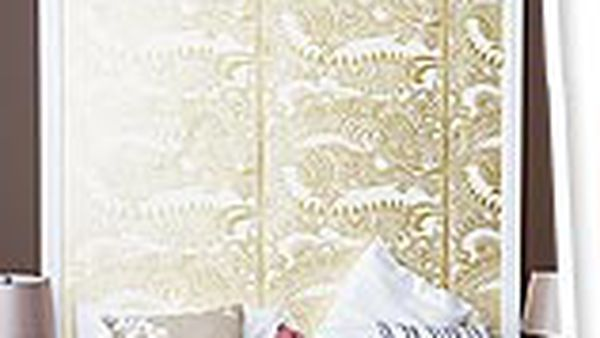 make your own wallpaper headboard