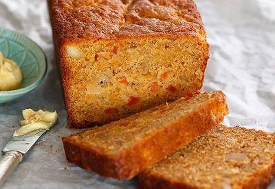"""Recipe:<a href=""""http://kitchen.nine.com.au/2016/05/05/13/39/papaya-and-banana-bread"""" target=""""_top"""" draggable=""""false"""">Papaya and banana bread</a>"""