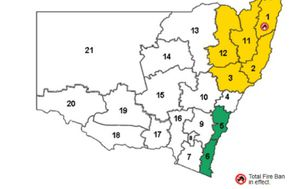 First total fire ban of season declared by NSW RFS