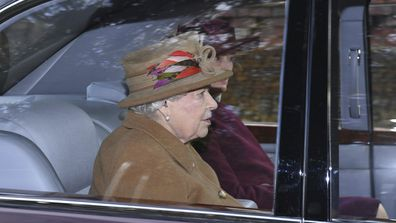 Queen Elizabeth attends church at in Sandringham on Sunday.