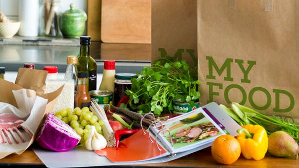 Groceries on kitchen benchtop (My Food Bag)