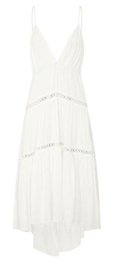 "Nothing says feminine and pretty quite like white lace though ... <a href=""https://www.sheike.com.au/republic-dress-33109"" target=""_blank"" draggable=""false"">Sheike Republic Dress, $159.95.</a>"