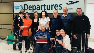 Patricia Hardy and her family before heading off on her bucket list holiday to Hawaii.