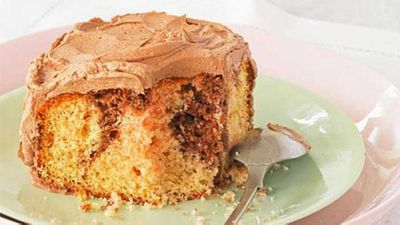 "Recipe: <a href=""http://kitchen.nine.com.au/2016/05/16/14/59/marble-cake"" target=""_top"">Classic marble cake</a>"