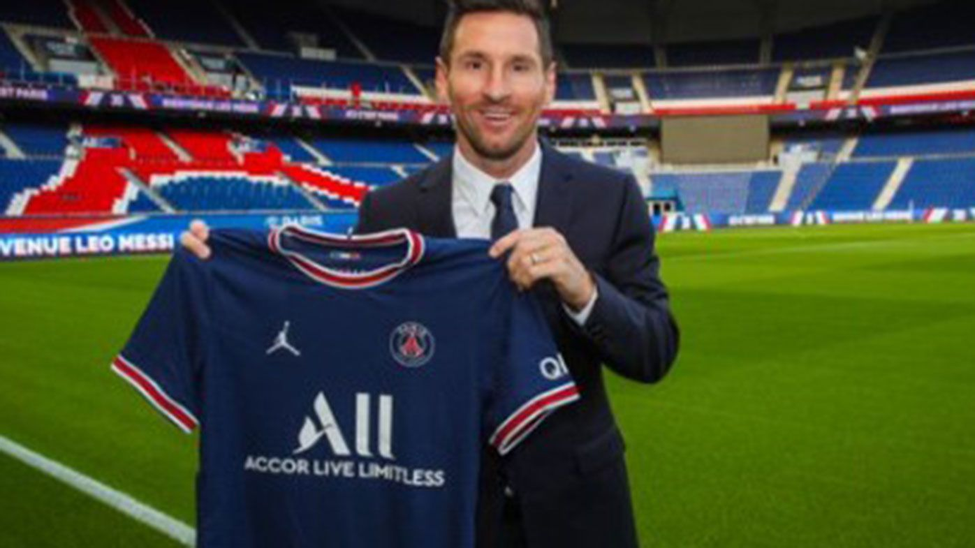Chaos in Paris as Lionel Messi officially signs for Paris Saint-Germain, police called in