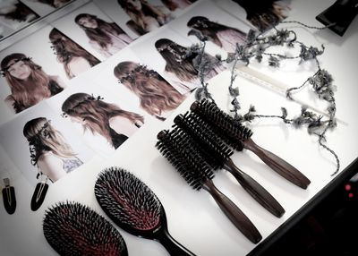 <p>Hair stylist Guido Palau used Redken's Wind Blown 05 Dry Finishing Spray to texturise the tresses.</p>