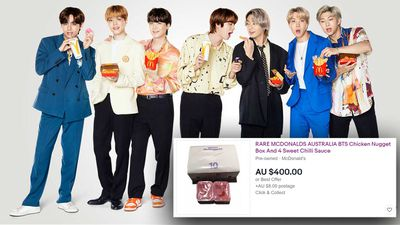 McDonald's BTS meal sauces selling on eBay for $400
