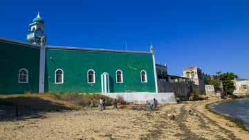 Green mosque in Mozambique (Corbis via Getty Images)