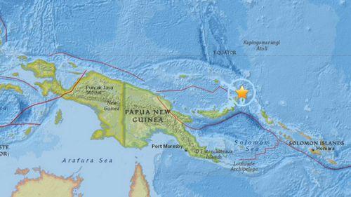 Magnitude 6.7 earthquake strikes off Papua New Guinea's coast