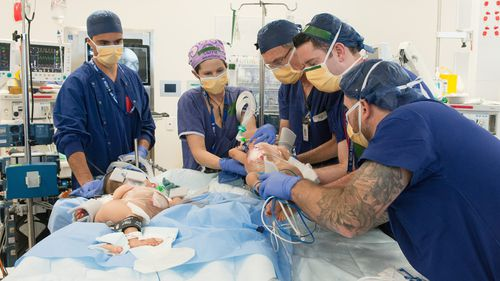 Conjoined sisters Nima and Dawa were successfully separated at the Royal Children's Hospital last week.