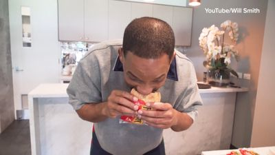 'That just burnt my face': Will Smith meets his match in Aussie pie