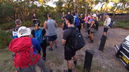 The group met in the Royal National Park south of Sydney for the first of many practice runs.