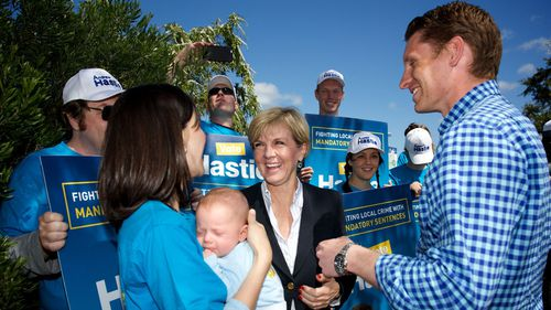 Foreign Minister Julie Bishop joined Mr Hastie today to secure some last minute votes.