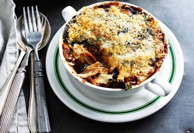 Rabbit and porcini mushroom lasagne