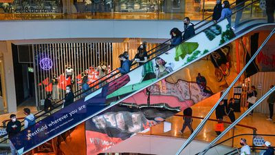 Shoppers inside Sydney's Bondi Junction for the first time in over three months.