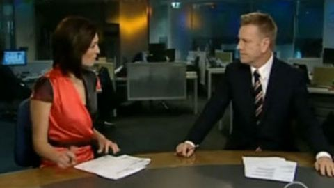 Video: Ten News presenter awkward joke