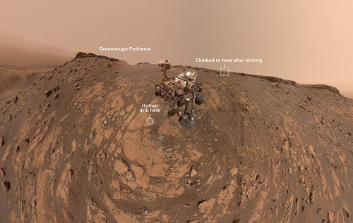 This selfie was taken by NASA's Curiosity Mars rover on Feb. 26, 2020 (the 2,687th Martian day, or sol, of the mission).