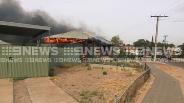 Fire tore through the Port Augusta home this morning.