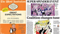 All the Federal Budget news front pages