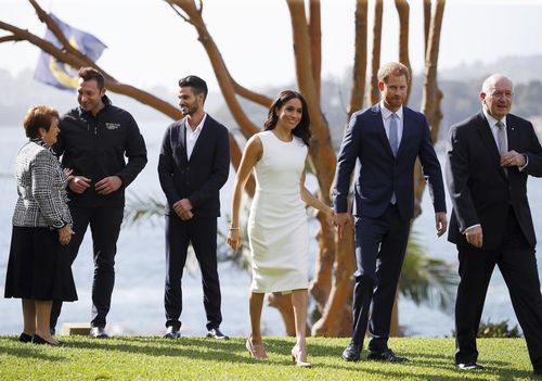 The royal couple's first engagement was at Admiralty House where they met those competing in the Invictus Games.