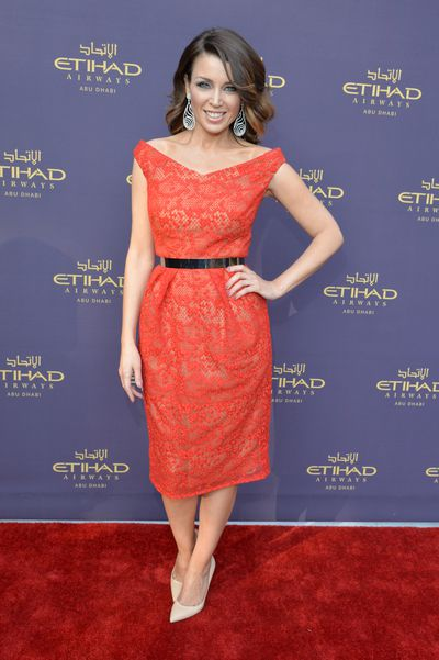 Dannii Minogue at an Etihad gala in Beverly Hills, California, June, 2014