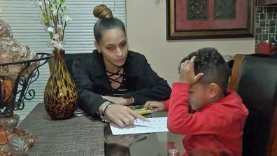 Natasha Valdivieso upset her son Pedro Hargrove has been told he is not allowed to wear earrings to school