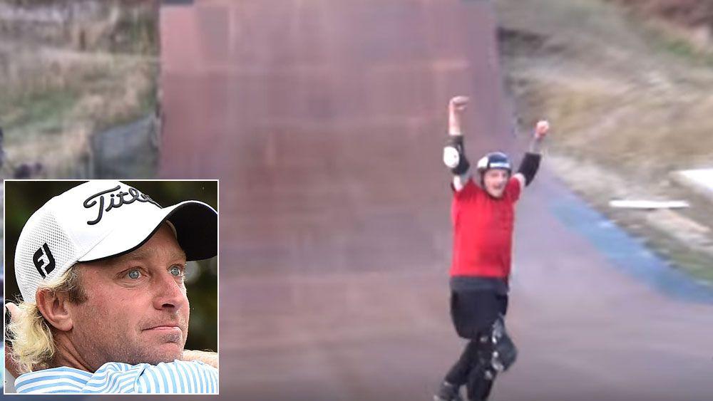 Golfer wins skate ramp court battle