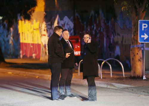 A milk bar worker, who saw the assault, said the 24-year-old victim stood up immediately after the attack in Doveton last night. Picture: AAP