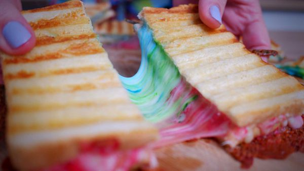 9Honey Every Day Kitchen: Rainbow cheese toasties are fun and totally instagrammable