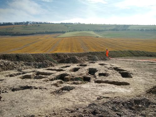 The ancient settlement was found containing an array of historic artifacts while preparing to lay new water pipes which will relieve pressure on Letcombe Brook near Wantage.