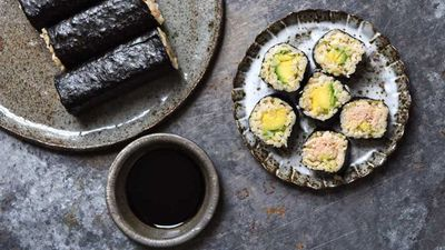 "Recipe: <a href=""http://kitchen.nine.com.au/2017/04/20/13/24/sushi-sushis-easy-at-home-brown-rice-sushi"" target=""_top"">Sushi Sushi's easy at home brown rice sushi</a>"