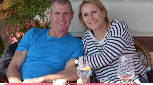 Phil Walsh with wife Meredith. (AAP)
