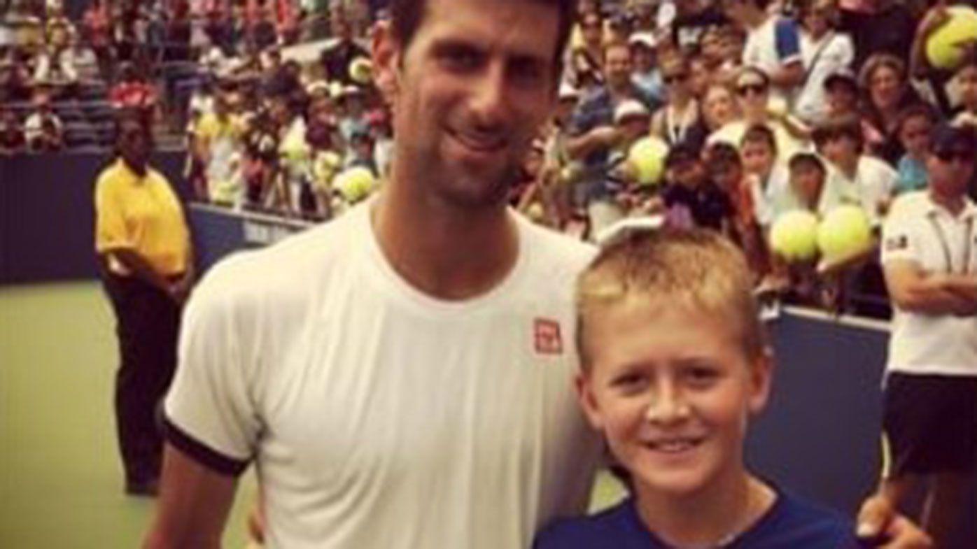 Novak Djokovic with Sebastian Korda in 2012.