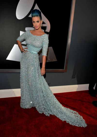 Katy Perry arrives at The 54th Annual GRAMMY Awards at Staples Center on February 12, 2012 in Los Angeles